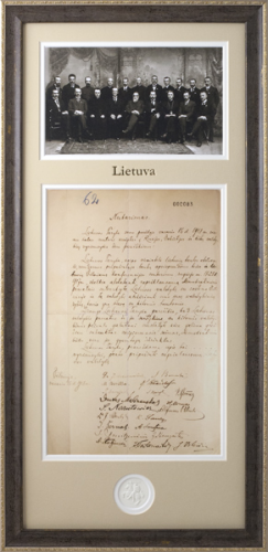 Nepriklausomybės aktas, nutarimas (kopija)