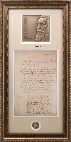 Nepriklausomybės aktas, nutarimas (kopija). Jonas Basanavičius