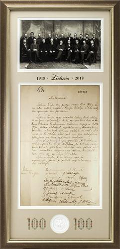 Lietuvai 100, Nepriklausomybės aktas, nutarimas (kopija)