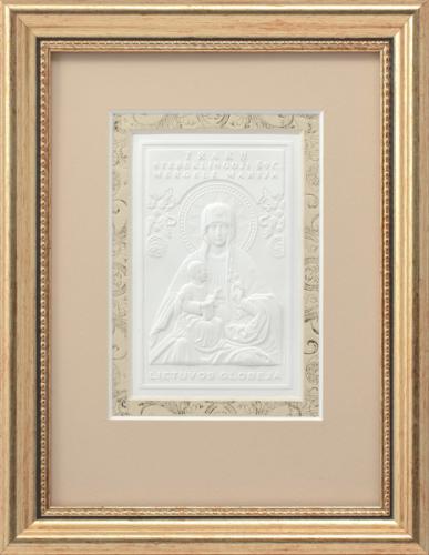 """Reljefinės grafikos paveikslas """"Trakų stebuklingoji Švč. mergelė Marija"""""""