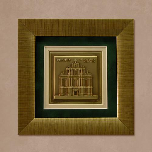 """Reljefinės grafikos paveikslas """"Klaipėda"""""""