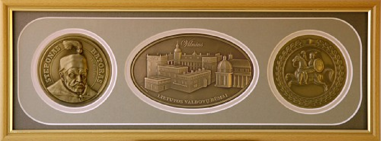 """Reljefinės grafikos paveikslas ''Valdovų rūmai su LDK"""""""