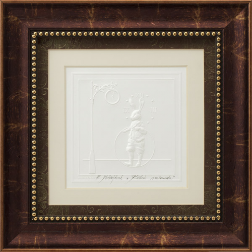 "Embossed graphic picture ""Hare 's Hour"""