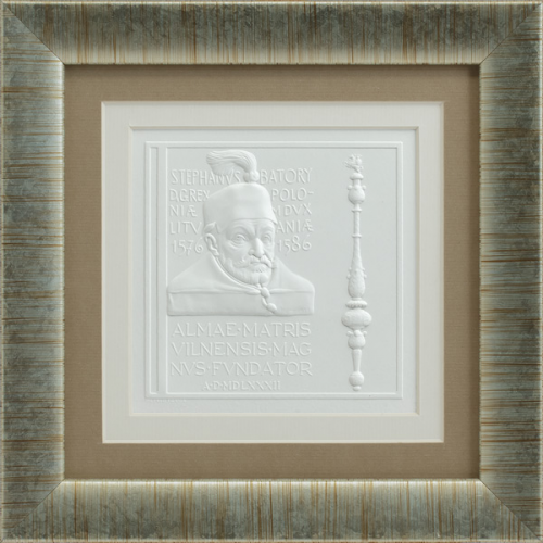"Embossed graphic picture ""Stephen Bathory with Scepter"""