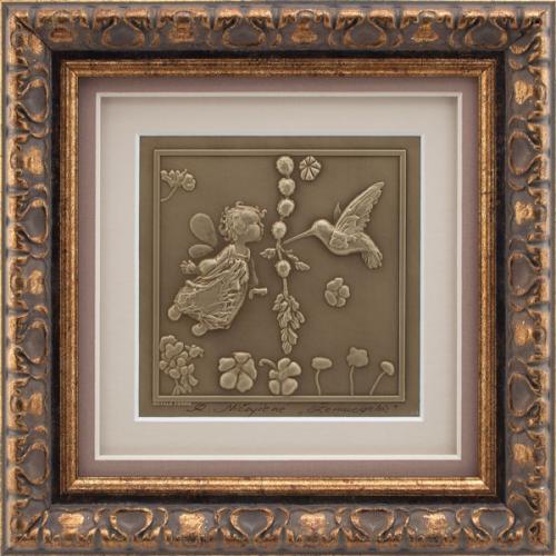 Reljefinės grafikos paveikslas ''Žemuogėlės''