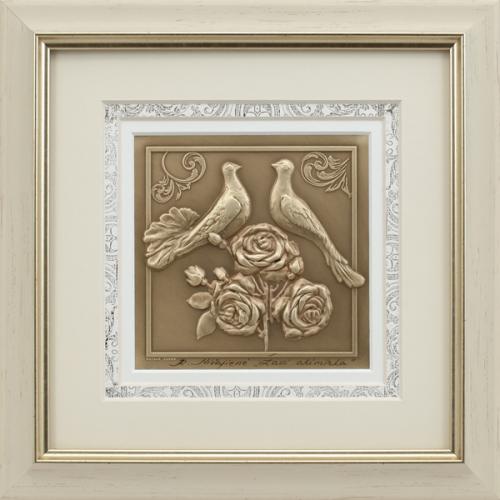 Reljefinės grafikos paveikslas ''Žavi akimirka''