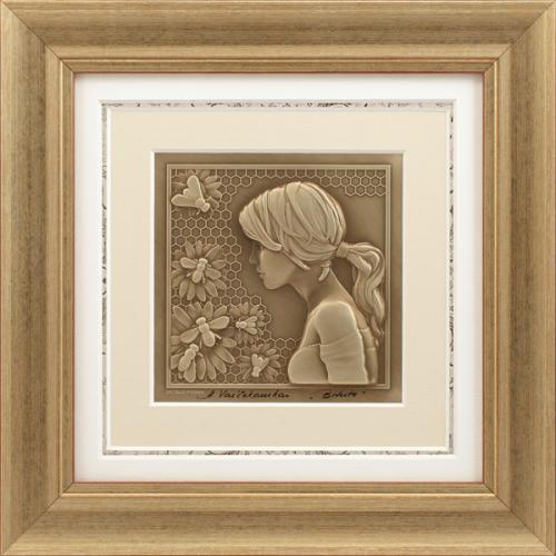 Reljefinės grafikos paveikslas ''Bitutė''