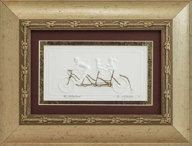 "Embossed graphic picture ""With the wind"""