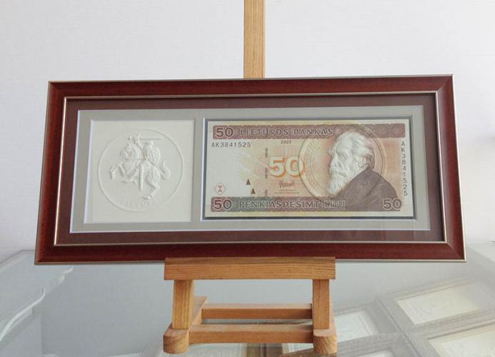 """Suvenyras - paveikslas """"50 litų banknotas"""""""