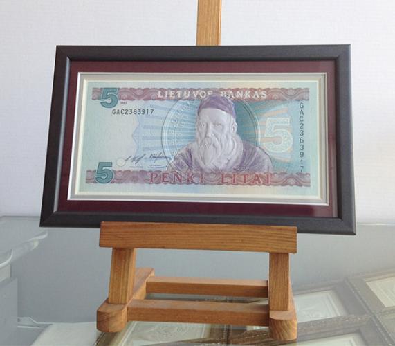 """Suvenyras - paveikslas """"5Lt banknotas"""""""
