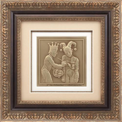 """Reljefinės grafikos paveikslas """"Apdovanotas"""""""