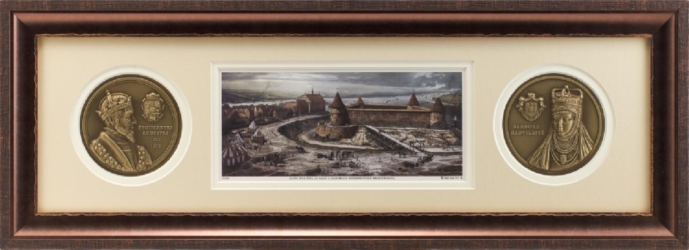 """Grafikos paveikslas """"Kauno pilis XVIa. viduryje. Žygimanto Augusto laikais."""""""