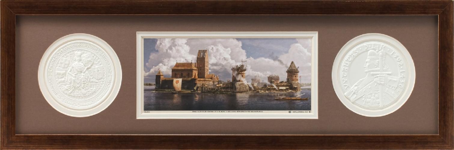 "Grafikos paveikslas ""Trakų salos pilis XV a. pr."""