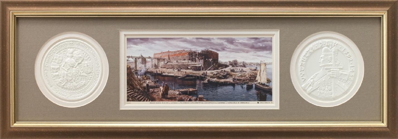 "Grafikos paveikslas ""Trakų salos pilis XVa. pr."""