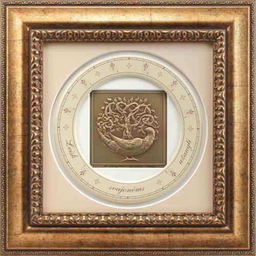 """Reljefinės grafikos paveikslas """"Gyvybes medis"""""""