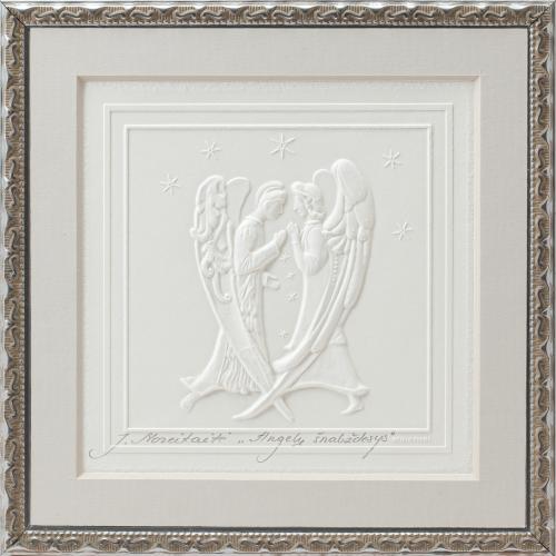 Reljefinės grafikos pastatomas suvenyras ''Angelų šnabždesys''