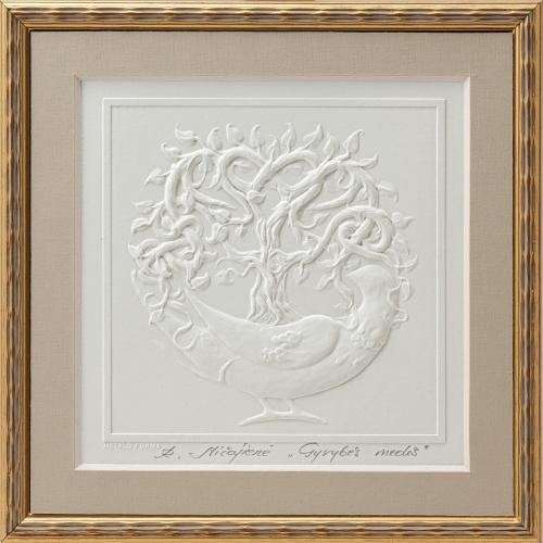 """Reljefinės grafikos pastatomas suvenyras ''Gyvybės medis"""""""
