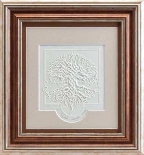 """Reljefinės grafikos paveikslas """"Stiprybės medis"""""""