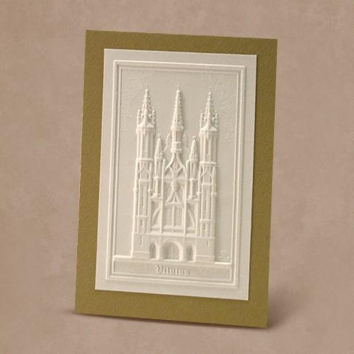 Reljefinės grafikos pakabinamas suvenyras ''Onos bažnyčia''