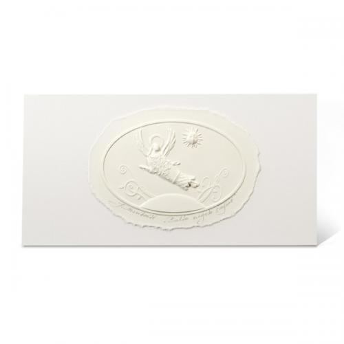 """Atvirukas su popieriniu reljefiniu vaizdu """"Balto angelo svajonė"""""""