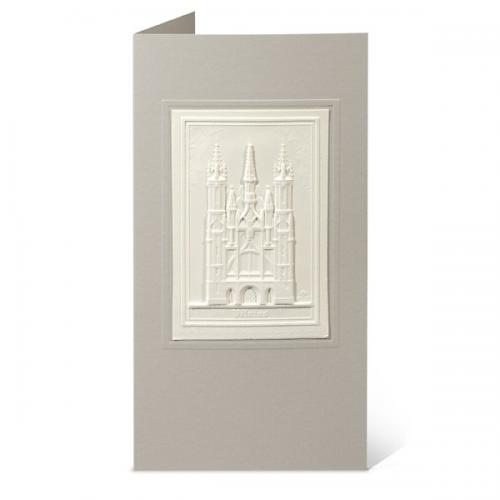 """Atvirukas su popieriniu reljefiniu vaizdu """"Onos bažnyčia"""""""