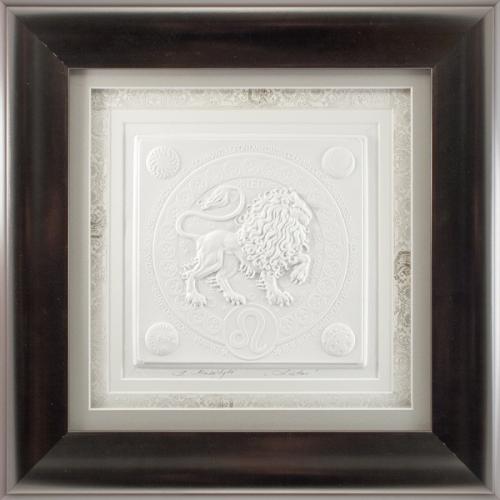 Reljefinės grafikos paveikslas ''Liūtas''