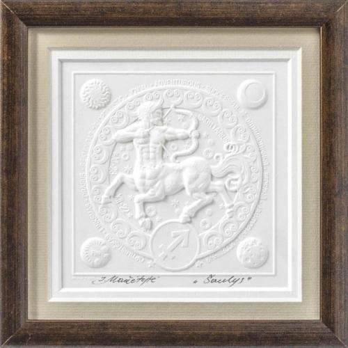 Reljefinės grafikos paveikslas iš serijos zodiakai ''Šaulys''
