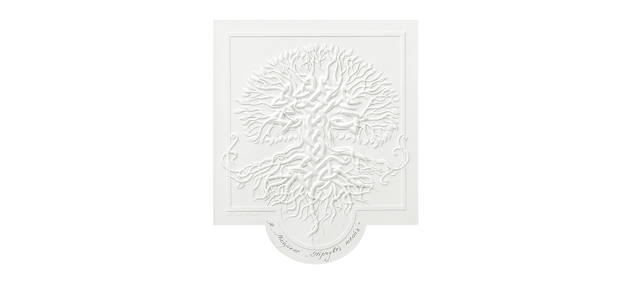 Embossed graphics new Tree of Strength